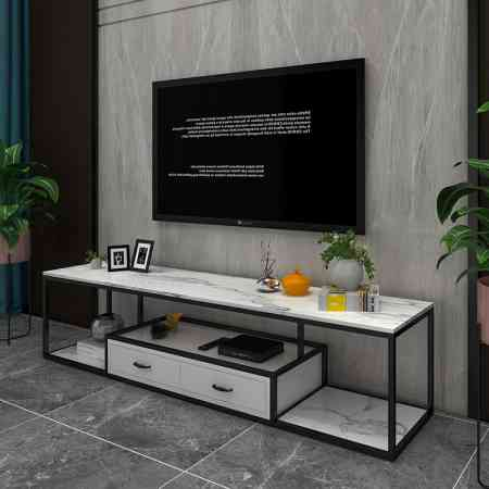 Nordic luxury furniture marble wrought iron TV cabinet modern minimalist living room TV cabinet coffee table combination set