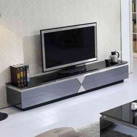 Living room simple storage TV cabinet Tempered glass Coffee table TV cabinet set modern fashion free installation