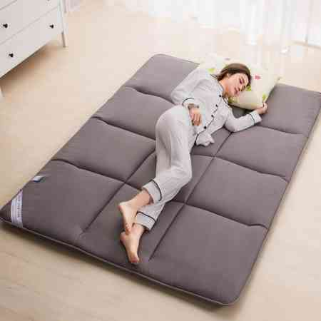 Thickened mattress, tweezers, tatami mat, back, one meter, two, five, eight beds, padded cotton pad, put on the ground, sleeping