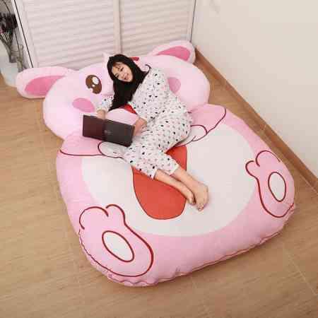 Creative Totoro Bed Lazy Sofa Bed Sheet Double 12 Zodiac Cartoon Tatami Mattress Cute Bedroom Small Sofa