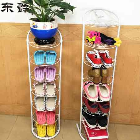 Simple shoe rack household iron multi-layer slippers frame door narrow shoe cabinet simple small shoes shelf space storage rack