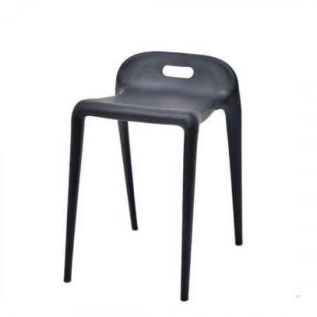 Nordic plastic stool summer bench simple dining stool adult dining chair hotel reception chair stool restaurant equal square stool