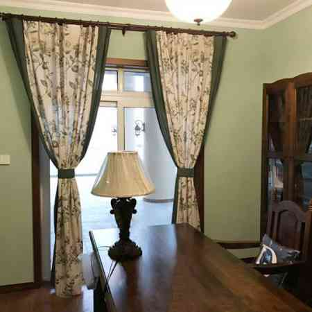 Simple American country garden curtains living room custom cotton linen curtain finished product specials bedroom floor window bay window