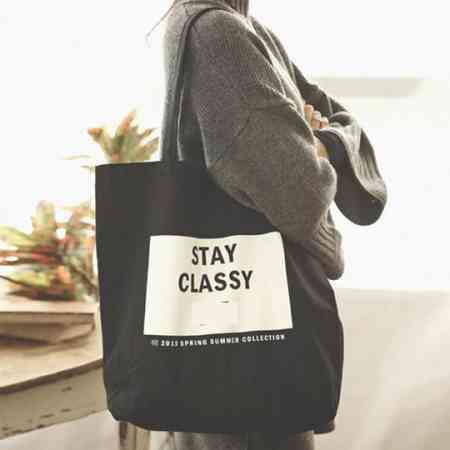 2018 Korean canvas bag art bag unilateral simple small fresh casual student large capacity handbag summer tide