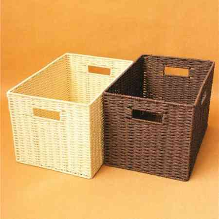 Simple woven storage box large storage box without cover preparation basket Wardrobe storage box clothing toy straw basket