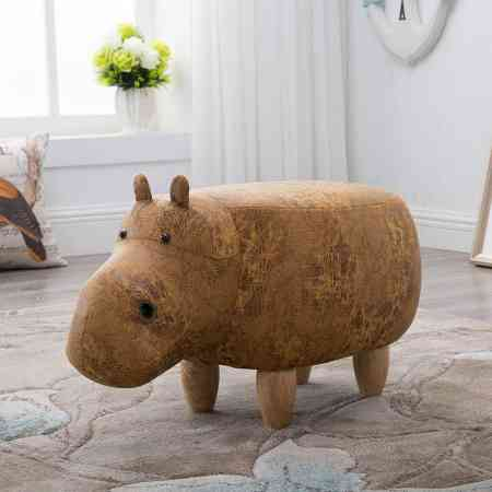 Solid wood footstool creative hippo shoes bench sofa stool designer furniture storage stool test shoes stool storage footstool