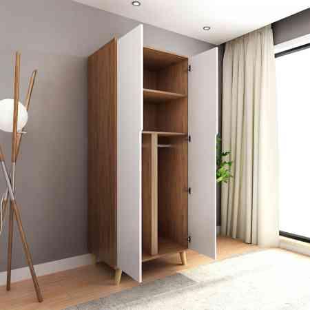 Double door bedroom overall wardrobe Customized multi-function household small apartment combination two door storage wooden wardrobe