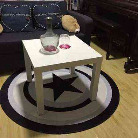 Simple Nordic round carpet modern home living room coffee table bedroom bedside bed cute hanging basket computer upholstery