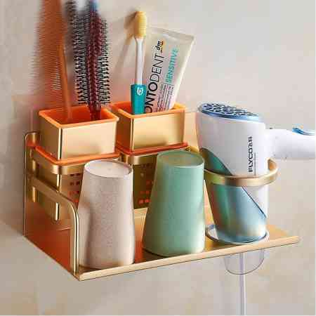Household gadgets, bathroom supplies, toothbrush holder, living storage, hair dryer, vanity, creative department store