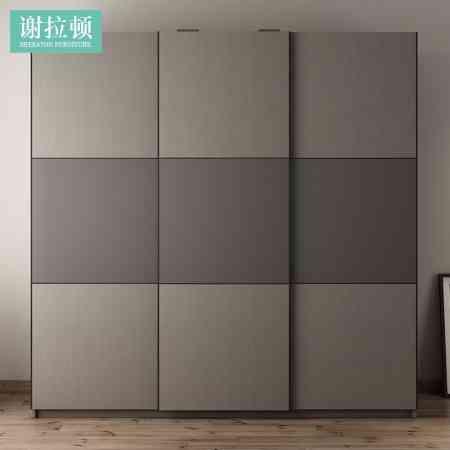 Sliding door wardrobe modern minimalist sliding door wardrobe door economical panel large wardrobe Nordic sliding door wardrobe