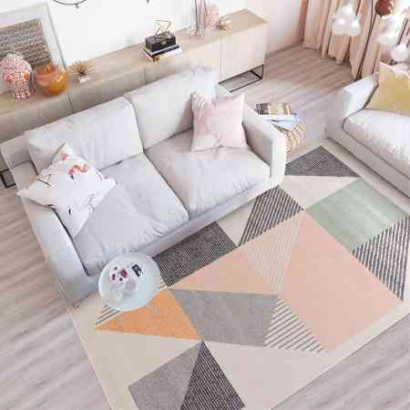 Nordic style carpet bedroom full shop cute living room sofa coffee table ins girl heart room tatami bed edge blanket