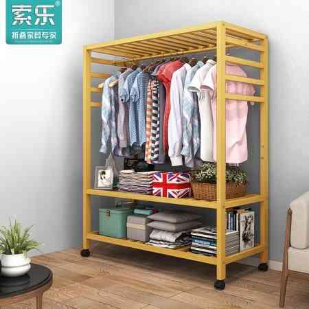 Sola racks floor bedroom simple home hanging clothes rack simple modern solid wood floor coat rack