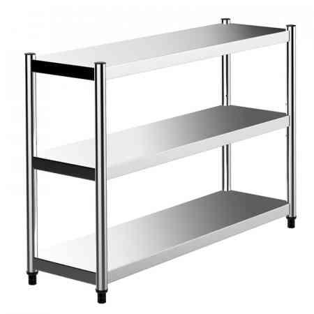 Ke wing stainless steel kitchen racks home floor multi-layer shelf thickening microwave oven rack storage rack