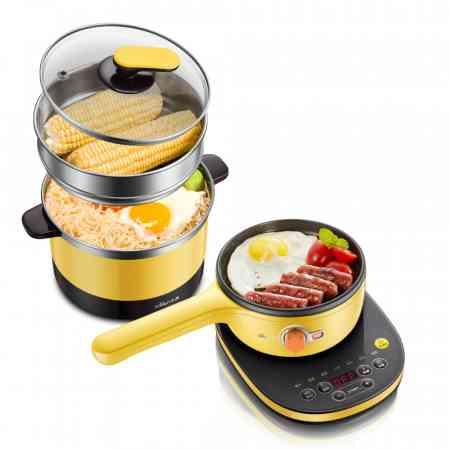 Bear/Cubs Multi-function electric cooker office multi-purpose pot dormitory electric skillet mini electric hot pot noodle pot