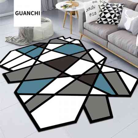 GUANCHI / Guan Chi Nordic living room carpet INS wind coffee table mat sleek minimalist modern carpet bedroom mat