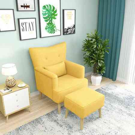 Nordic single small sofa fabric fashion American simple style tiger chair stool casual mini small living room