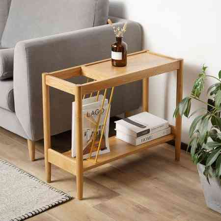 Nordic solid wood sofa side small apartment living room furniture home leisure corner several modern minimalist creative coffee table