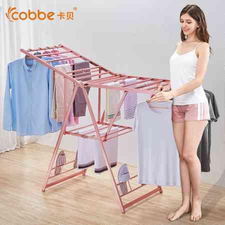 Drying rack floor folding indoor home wing type mobile simple drying rack balcony artifact cool hanger drying rack
