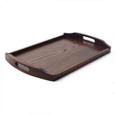 Japanese wooden tray rectangular tea tray cup tray household wooden tray plate dish plate with handle retro