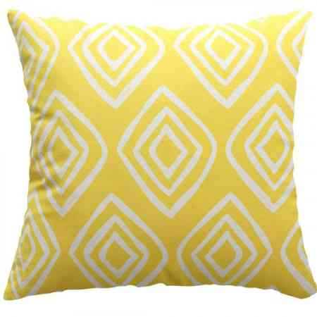 Ins wind Nordic pillow modern minimalist geometric pillow nap female yellow sofa pillowcase living room bed cushion