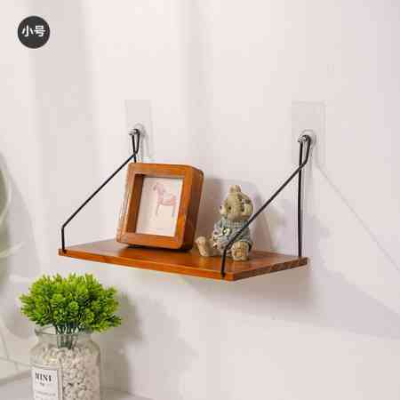 Zakka solid wood wall shelf dormitory living room partition board wall decoration kitchen TV wall hanging