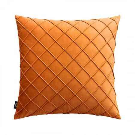 Nordic pillow solid color velvet square lattice back cushion light luxury model room by bag super soft velvet sofa cushion