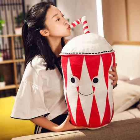 Simulation cute snacks French fries pillow cushion plush toy net red doll funny dolls men and women birthday gift