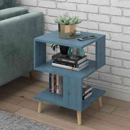 Nordic simple modern small coffee table living room creative square small dining table economy sofa table E1 plate tea table