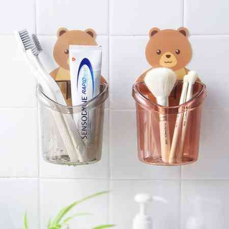 Creative bathroom shelf free punching bathroom vanity suction wall hanging comb toothpaste toothbrush storage rack