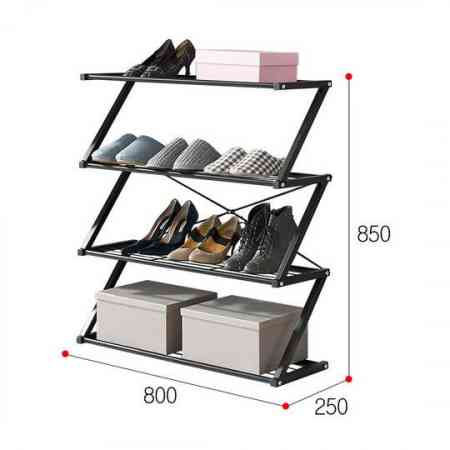 RUICHANG multi-level entrance hall shoe rack modern household economic wrought iron storage rack dust-proof shoe rack shelf