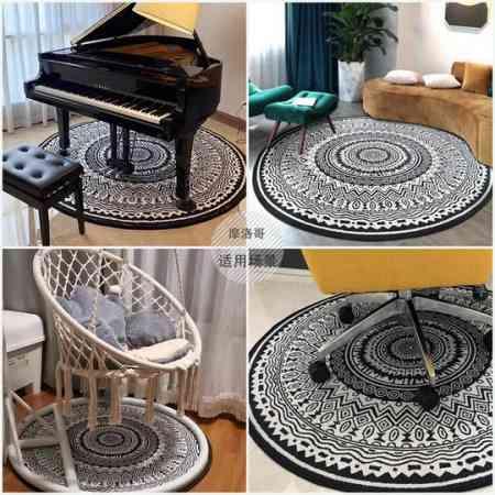 Round Moroccan Carpet