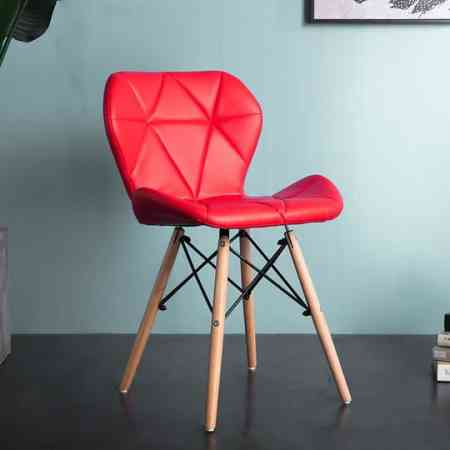Eames solid wood butterfly chair Nordic modern simple lazy dining chair back ins stool subnet red makeup chair