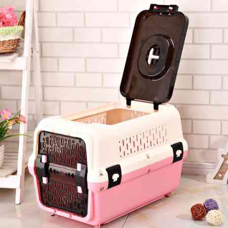 Air box pet cat dog cage transport cage to go out portable air travel check box small dogs cat