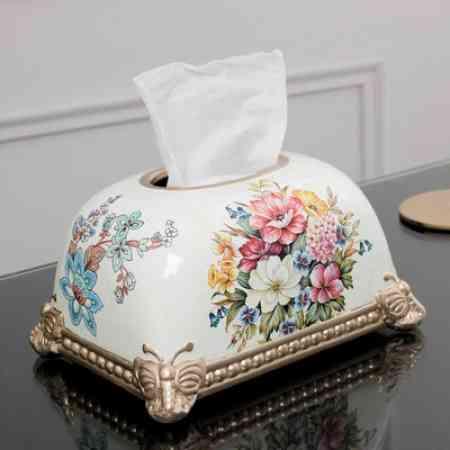 European minimalist living room coffee table pumping tray light luxury home American ceramic bread box tissue box napkin decorations