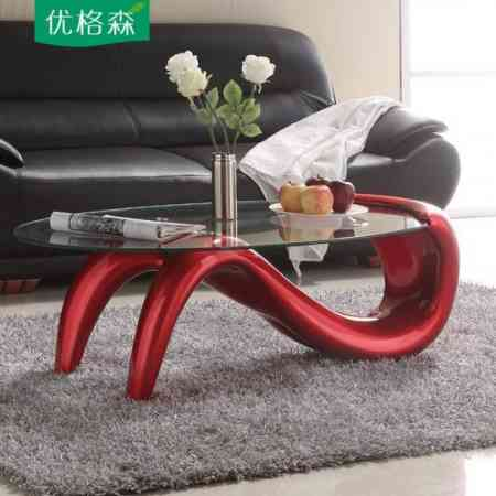 Creative personality coffee table simple modern mermaid tempered glass coffee table fashion oval small apartment coffee table