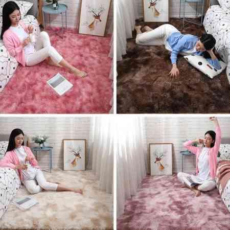 Nordic thickening bedroom living room carpet bed room minimalist custom shop for modern home girl bed mats