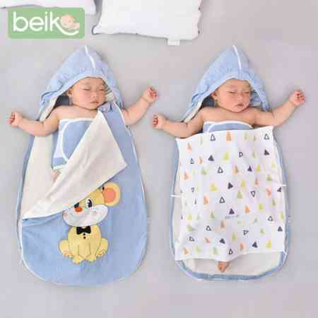 Sleeping bag baby spring, autumn and winter day thickening newborn child baby four seasons universal cotton anti startle anti kick quilt