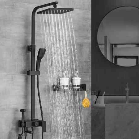 Black American household intelligent shower suite bathroom toilet bathroom shower nozzle rain shower