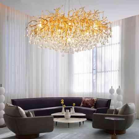 Post modern light luxury chandelier restaurant villa branch creative American European hall round living room Crystal Chandelier