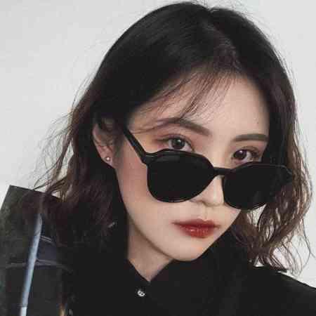 Ms. 2020 new wave of anti-UV sunglasses color sunglasses fashion polarized glasses round face big face was thin