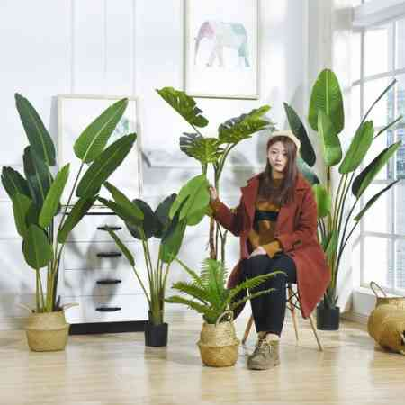 Large Nordic simulation plant landing paradise bird bonsai interior decoration fake potted green plant decoration traveler banana tree