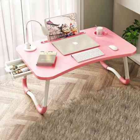 Book a table you can put on the bed home foldable writing students sitting on mini multifunction zhuozi