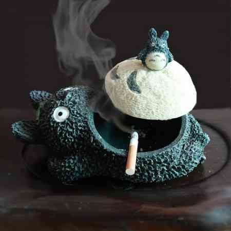 Ashtray with lid creative living room personality cute trend household ashtray ins fashion Nordic wind anti fly ash