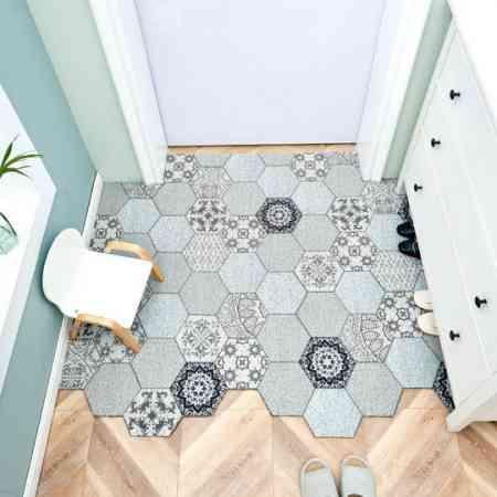 Entrance door mats Nordic PVC door home silk ring mats can be tailored custom entrance carpet door mats