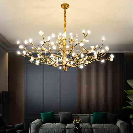 French all copper light luxury crystal chandelier living room dining room high grade Villa Club compound building atmospheric bedroom lamp
