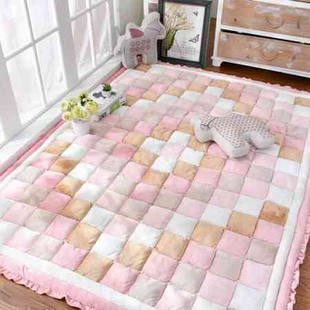 Korean Korean thick short plush home carpet bedroom full shop rectangular bedside coffee table crawling mat tatami