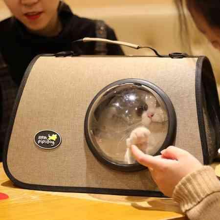 Cat bag out portable shoulder bag school bag messenger backpack dog cat cat cage takeout supplies