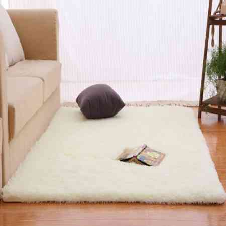 Simple European-style rectangular living room coffee table carpet plush bedroom bedside carpet bed front blanket custom full mat