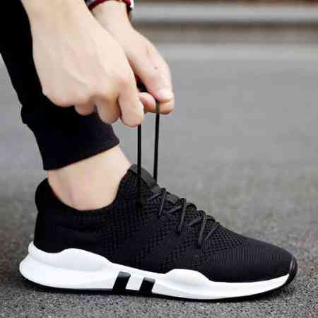 2018 new autumn and winter plus velvet warm tide men's shoes Korean version of the trend of wild sports casual shoes men's cotton shoes