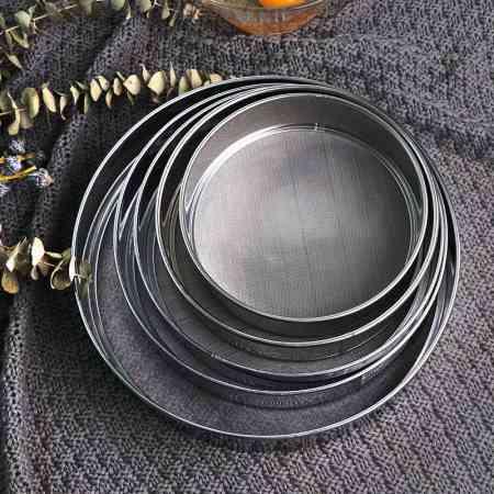 Baking tool Flour sieve 304 stainless steel screen 60 mesh fine mesh sieve powder sieve handheld round flour sieve